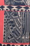 Rochie cu imprimeu geometric imitatie piele intoarsa