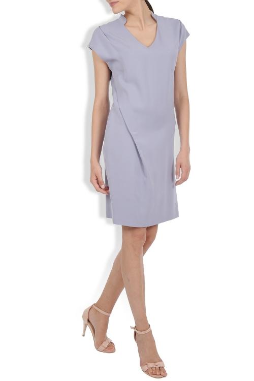 Rochie de zi din crep de vascoza lila