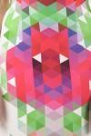 Rochie midi conica cu print digital