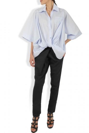 Camasa bleu cu nod stilizat