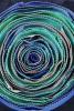 Geanta de umar piele bleumarin cu floare supradimensionata