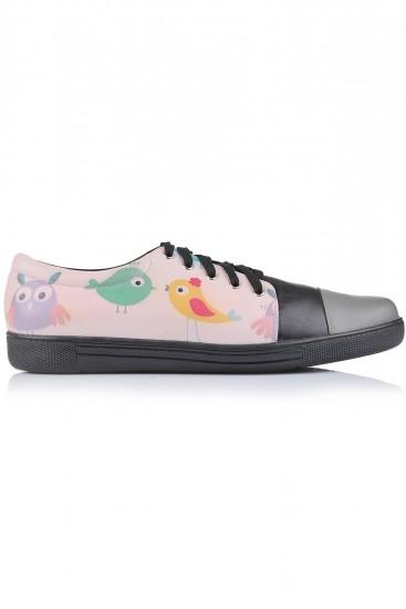 "Sneakers piele naturala ""Fat bird"""