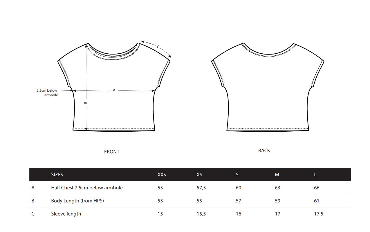 tabel masuri tricouri